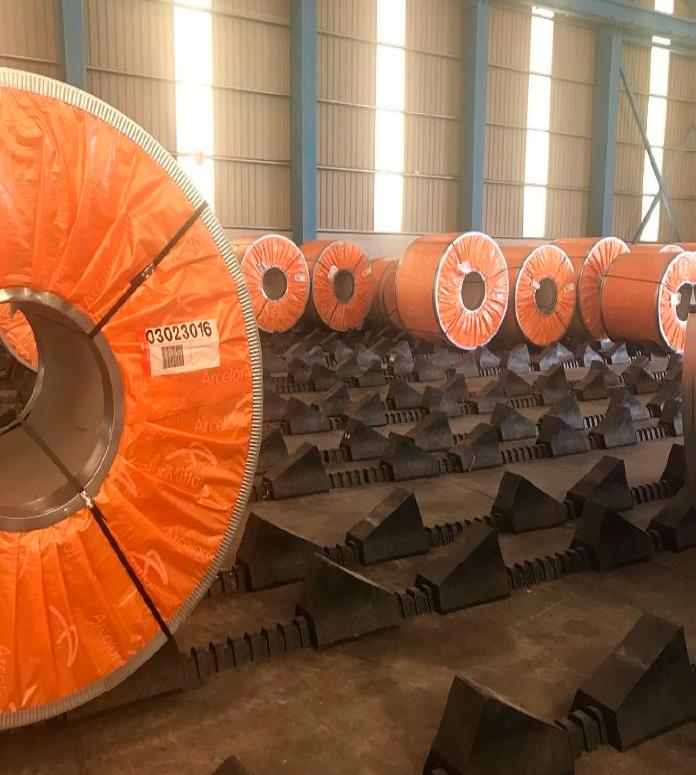 Almacenamiento de productos siderúrgicos